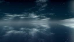 Ocean fly over through snow Stock Video Footage