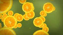 Orange slice on green Stock Video Footage