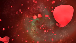 Rose petals with abstract background and Alpha Stock Video Footage