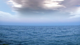 Open ocean and time-lapse stormy clouds Footage