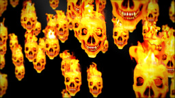 Skull on flames Stock Video Footage
