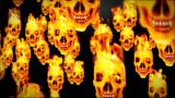Skull On Flames stock footage