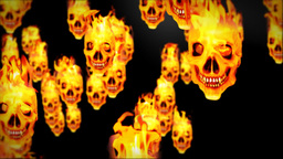 Skull on flames Animation