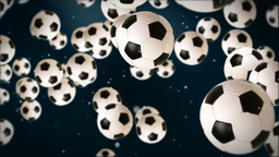 Soccer ball against dark blue Stock Video Footage