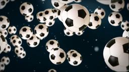 Soccer ball against dark blue Stock Video Footage