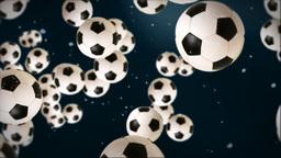 Soccer ball against dark blue Animation