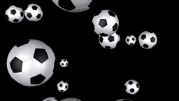 Soccer balls flying Stock Video Footage