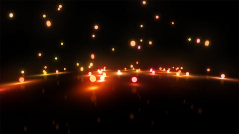orange Bouncing light balls wide Animation