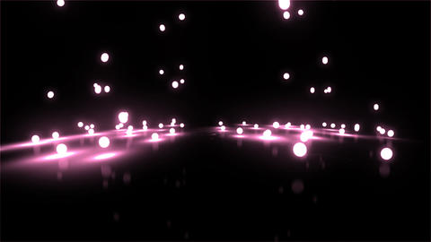 pink Bouncing light balls wide Stock Video Footage