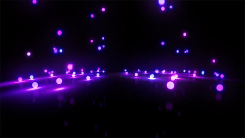 purple Bouncing light balls wide Stock Video Footage
