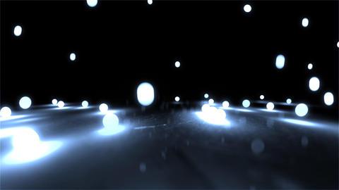 skyblue Bouncing light balls closeup Stock Video Footage