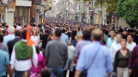 people walking in a crowded street, timelapse Stock Video Footage