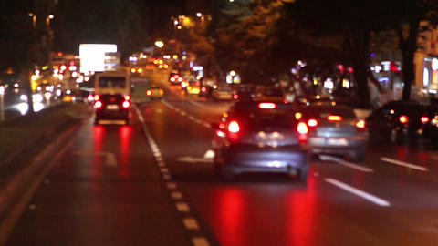 traffic at night Stock Video Footage
