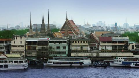 Bangkok river Stock Video Footage