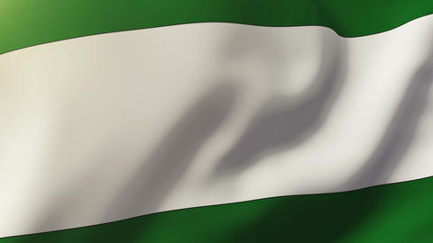 Andalucia flag waving in the wind. Looping sun rises style. Animation loop Animation
