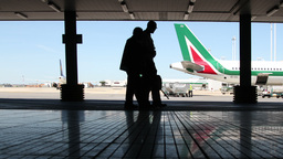 rome airport outside Footage