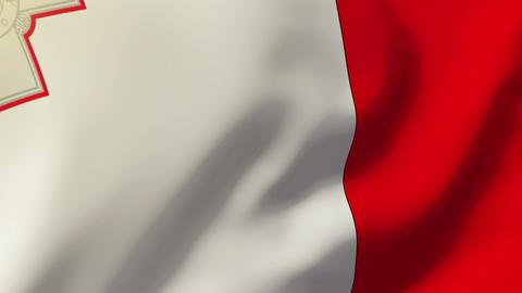 Malta flag waving in the wind. Looping sun rises style. Animation loop Animation