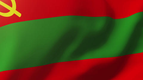 Transnistria flag waving in the wind. Looping sun rises style. Animation loop Animation