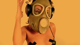 sexy gasmask dancer Footage