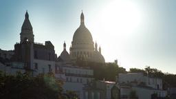 sacre coeur, montmatre sunset, paris france Footage