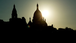 sacre coeur, montmatre sunset, paris france Footage