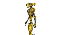 歩くロボット stock footage