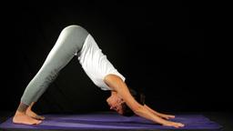 yoga girl shilouettes helathy lifestyle Footage