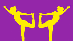 yoga moves and poses shadow colorful Footage