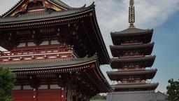 senso ji japan temple tokyo shrine religious Footage