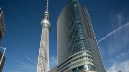 sky tree tower city tokyo japan structure ビデオ