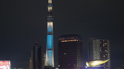 sky tree tower city tokyo japan structure Footage