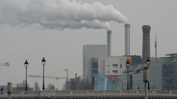 pollution smoke industrial chimney Footage