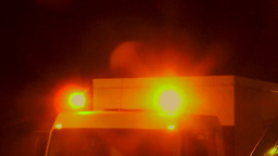 Rotating light on a truck, amber Footage