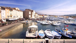st tropez france port harbour boats Footage