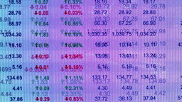 Stocks Shares And Trading Data stock footage