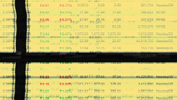 stocks shares and trading data Footage