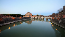 Fortress Of San Angelo, Rome, Italy. TimeLapse stock footage