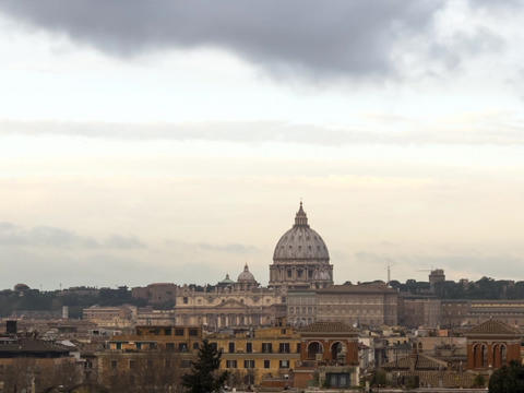 The Dome Of St. Peter's Basilica. Rome, Italy.. 640x480 stock footage
