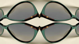 sunglasses retro collection vintage style abstract Footage