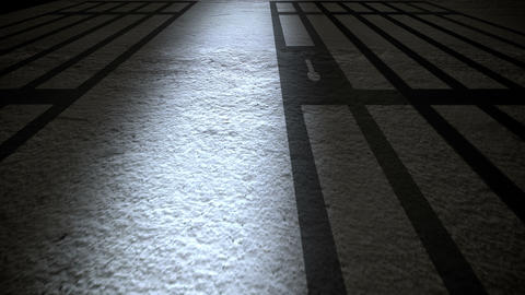 Prison Interior With Jail Bars Closing stock footage