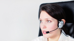 call center girl telephone job Footage