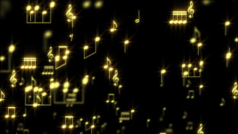 Music Notes Particles 02 Animation