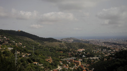 tibidabo mountain barcelona communication tower urban Footage