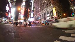times square new york america urban tourist transport cars Footage