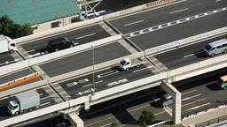 tokyo motorway highway cars transport bridge Footage