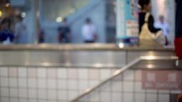 underground train metro tokyo people rush commute Footage