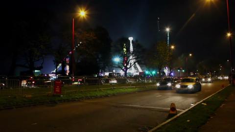 Luna Park At Night - Traffic stock footage