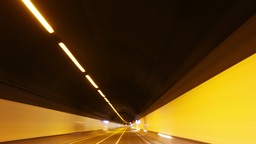 timelpase driving through tunnel lights Footage