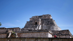 time-lapse of the mayan ruins at uxmal, mexico Footage