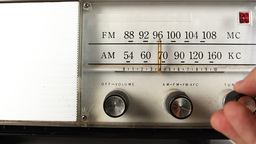 vintage radio dial frequency Footage